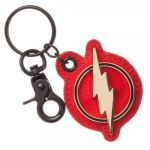 Подарок Брелок Bioworld 'Flash Lightning Logo Metal Canvas Keychain Key Chain DC Comics Justice League' (KE5LSHDCO)