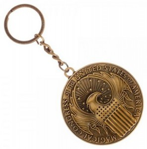 Подарок Брелок Bioworld 'Harry Potter Fantastic Beasts Macusa Key Chain' (KE4H44FAN)