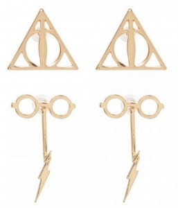 Подарок Серьги Bioworld 'HPT - glasses & bolt f/b earrings w/deathly hallows' (EG5LDXHPT)