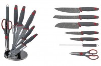 Набор ножей Berlinger Haus 'Gray Stone Touch Line' 8 предметов (BH-2120)