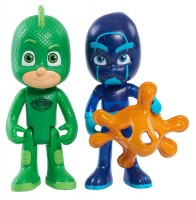 фигурка Игровой набор PJ Masks 'Герои в масках - Гекко и Ночной ниндзя (свет)' (24813)