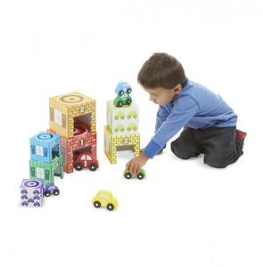 фото игрушки Набор блоков-кубов Melissa & Doug  'Автомобили и гаражи' (MD12435) #4