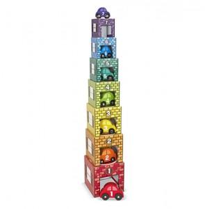 фото игрушки Набор блоков-кубов Melissa & Doug  'Автомобили и гаражи' (MD12435) #3