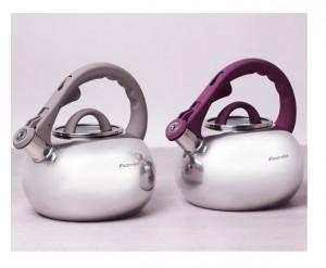 Подарок Чайник Kamille 2.8 л из нержавеющей стали со свистком и стеклянной крышкой (KM0687A)