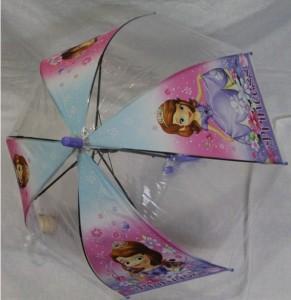Детский зонт 'Princess Sofia' грибком прозрачный