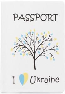 Подарок Обложка для паспорта ZIZ 'I love Ukraine' (10083)