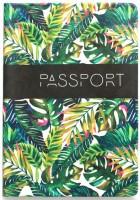 Подарок Обложка для паспорта ZIZ 'Пальмовые листья' (10104)
