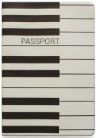 Подарок Обложка для паспорта ZIZ 'Пианино' (10103)
