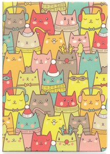 Подарок Обложка для паспорта ZIZ 'Зимние коты' (10098)