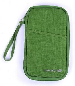 Подарок Органайзер для путешествий AviaTravel+, зеленый