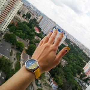 фото Часы наручные ZIZ 'Флаг треугольники' сине-желтый (1415916) #3