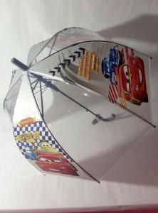 Детский зонт 'Cars' грибком прозрачный
