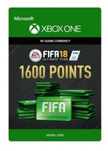 Ключ Xbox live 'FIFA 18 Ultimate Team'  1600 Points (Xbox One)