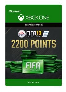 Ключ Xbox live 'FIFA 18 Ultimate Team'  2200 Points (Xbox One)