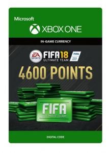 Ключ Xbox live 'FIFA 18 Ultimate Team'  4600 Points (Xbox One)