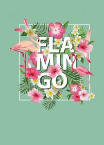 Книга Блокнот. Фламинго (формат А4, твёрдая обложка, круглые углы) (Арте)
