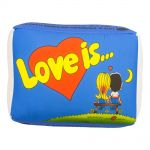 Подушка 'Love is...' Голубая