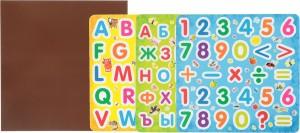 фото страниц Все первые знания на магнитах. Азбука, английский алфавит и цифры в одном наборе #3