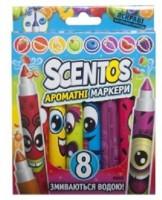Набор ароматных маркеров для рисования Scentos 'ПЛАВНАЯ ЛИНИЯ, 8 цветов' (40605)