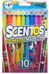 Набор ароматных маркеров для рисования Scentos 'ТОНКАЯ ЛИНИЯ, 10 цветов' (40720)
