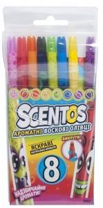 Набор ароматных восковых карандашей для рисования Scentos 'РАДУГА, 8 цветов' (41102)