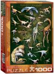 Пазл Eurographics 'Пернатые динозавры' 1000 элементов