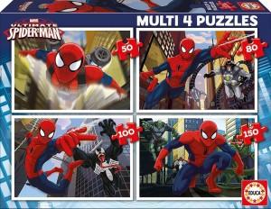 Пазл 4 в 1 Educa 'Человек-паук' 50-80-100-150 элементов