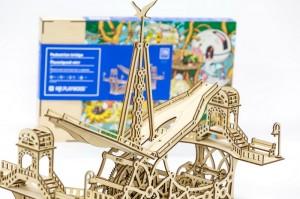 фото Механический конструктор из дерева Mr.Playwood 'Пешеходный мост' (10006) #4