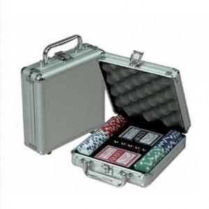 фото Покерный набор Johnshen Sports 100 фишек по 11.5 г (алюминиевый кейс) #2
