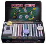 Покерный набор International Toys Trading LTD на 300 фишек с номиналом + сукно (жестяная коробка)