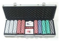 Покерный набор Johnshen Sports 500 фишек по 11.5 г (алюминиевый кейс)