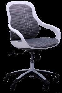 Кресло Art Metal Furniture Колибри белый/сетка серая (X-10) (259167)
