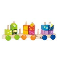 Паровозик с кубиками для фантазий Hape (E0417)