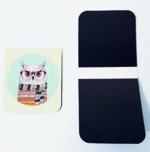 фото Набор магнитных закладок 'Гламурные совы' (2 шт.) #4