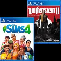 игра 'The Sims 4' + 'Wolfenstein 2: The New Colossus' (суперкомплект из 2 игр для PS4)