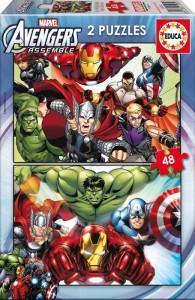 Пазл Educa 'Мстители' 2x48 элементов (EDU-15932)