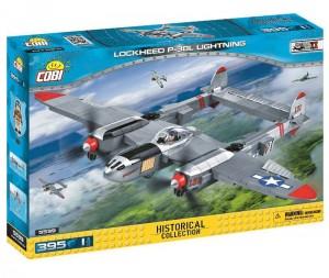 Конструктор COBI 'Вторая Мировая Война Самолет Локхид П-38 Лайтнинг' 395 деталей (COBI-5539)