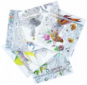 Книга Комплект раскрасок (Птицы счастья. Подводное царство. Лес-чародей. Прекрасные незнакомки. Волшебные)