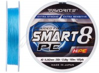 Шнур Favorite Smart PE 8x 150м (голубой) #2.0/0.242mm 25lb/13.8kg(16931076)