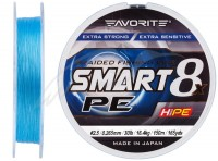Шнур Favorite Smart PE 8x 150м (голубой) #2.5/0.265mm 30lb/16.4kg(16931077)
