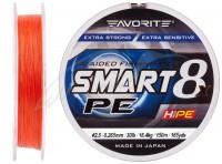 Шнур Favorite Smart PE 8x 150м (красно-оранжевый) #2.5/0.265mm 30lb/16.4kg(16931086)