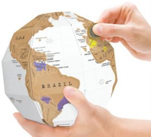 Подарок Скретч-карта мира 'Земной Шар'