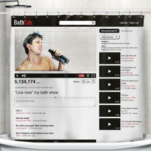 Подарок Шторка для ванны 'YouTube'