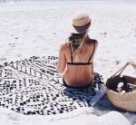 Подарок Пляжный коврик 'Black Style'