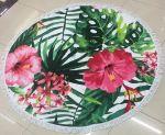 Подарок Пляжный коврик 'Цветы гибискуса'