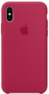 Чехол Apple iPhone X Silicone Case Rose Red