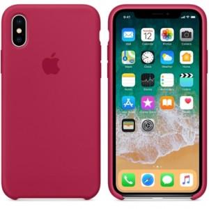 фото Чехол Apple iPhone X Silicone Case Rose Red (MQT82) #4