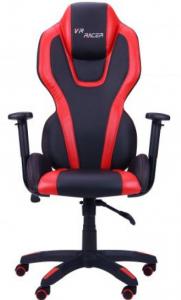 Кресло Art Metal Furniture 'VR Racer Atom' черный, PU черный/красный (515409)