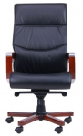 Кресло Монтана НВ, кожа черная (619-B+PVC) (038670)