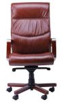 Кресло Монтана НВ, кожа коричневая (619-B+PVC) (038669)